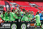 Tranmere Rovers 1 Forest Green Rovers 3, 14/05/2017. Wembley Stadium, Conference play off Final. Forest Green players celebrate after the Vanarama Conference play off Final  between Tranmere Rovers v Forest Green Rovers at the Wembley. Photo by Paul Thompson.