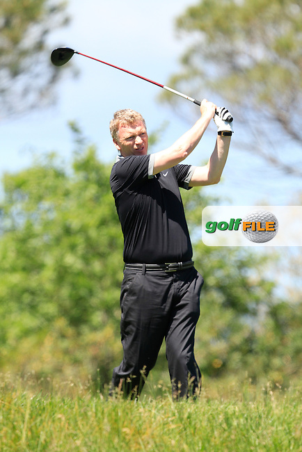 David Moyes (AM) on the 14th tee during the Pro-Am in The Open De Espana at The PGA Catalunya Resort on Wednesday 14th May 2014.<br /> Picture:  Thos Caffrey / www.golffile.ie