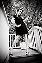 Little Black Dress thrift store find.  Vintage fashion found in thrift store.  Fashion Photography by Liisa Roberts.