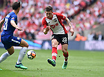 Pierre Emile Hojbjerg of Southampton during the FA cup semi-final match at Wembley Stadium, London. Picture date 22nd April, 2018. Picture credit should read: Robin Parker/Sportimage