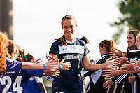 Sky Blue FC defender Madeleine Thompson (25). Sky Blue FC defeated the Washington Spirit 1-0 during a National Women's Soccer League (NWSL) match at Yurcak Field in Piscataway, NJ, on August 3, 2013.