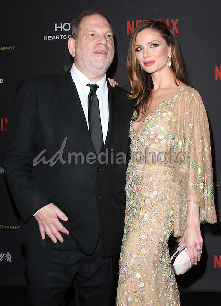 10 January 2016 - Los Angeles, California - Harvey Weinstein and Georgina Chapman. 2016 Weinstein Company & Netflix Golden Gloves After Party held at the Beverly Hilton Hotel. Photo Credit: AdMedia