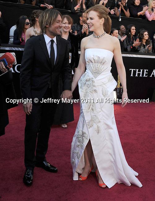 HOLLYWOOD, CA - FEBRUARY 27: Keith Urban and Nicole Kidman arrive at the 83rd Annual Academy Awards held at the Kodak Theatre on February 27, 2011 in Hollywood, California.