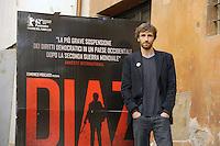 """Roma, 6 Aprile 2012.Photocall del film """"Diaz"""" .L'attore Igazio Oliva"""