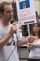 Roma Demo French Embassy Knightsbridge 4th September 2010 - Speaker.