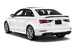 Car pictures of rear three quarter view of 2017 Audi S3 Premium-Plus 4 Door Sedan Angular Rear
