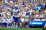 FOXBORO, MA - MAY 28: Ben Higgins (24) of Limestone College with the ball during the Division II Men's Lacrosse Championship held at Gillette Stadium on May 28, 2017 in Foxboro, Massachusetts. (Photo by Larry French/NCAA Photos via Getty Images)