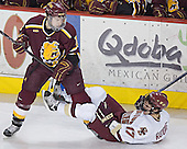Zac Pearson, Joe Rooney - The Boston College Eagles and Ferris State Bulldogs tied at 3 in the opening game of the Denver Cup on Friday, December 30, 2005, at Magness Arena in Denver, Colorado.  Boston College won the shootout to determine which team would advance to the Final.