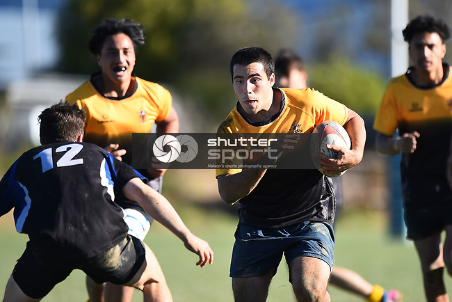 NELSON, NEW ZEALAND - JUNE 26: Motueka High School v Buller High School on June 26, 2017 in Motueka, New Zealand. (Photo by: Chris Symes/Shuttersport Limited)