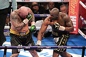 24th March 2018, O2 Arena, London, England; Matchroom Boxing, WBC Silver Heavyweight Title, Dillian Whyte versus Lucas Browne; Dillian Whyte attacks Lucas Browne during the early rounds