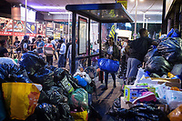 Hundreds of bags and boxes full of clothes, bedding and other items piling up outside the Latimer Road Community Church for the victims of the North kensington Grenfell Tower fire, June 14, 2017. <br /> CAP/CAM<br /> &copy;Andre Camara/Capital Pictures /MediaPunch ***NORTH AND SOUTH AMERICAS ONLY***