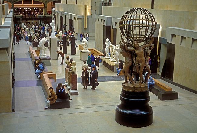 People visit d'Orsay Museum, city of Paris, Ile de France region, France, Europe