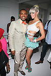 Desginer D'Angelo and Singer Krystal LaVenne at the Edwing D'Angelo Spring Summer 2014 Presentation Held at Studio 450, NY
