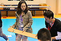 (L-R) Mao Asada, Yuichi Onda,APRIL 20, 2013 : The Building up Team Japan 2013 for Sochi at Ajinomoto NTC, Tokyo, Japan. (Photo by AFLO SPORT)
