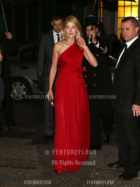 Rosamund Pike arriving for the Harper's Bazaar Women of the Year Awards 2012 at Claridge's Hotel, London. 31/10/2012 Picture by: Henry Harris / Featureflash