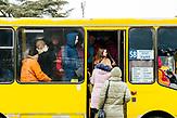 In Uzorhod gibt es keine Straßenbahn. Der Nahverkehr wird ausschließlich von Busses übernommen.
