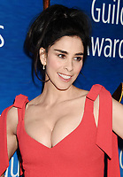 BEVERLY HILLS, CA - FEBRUARY 11: Actress Sarah Silverman attends the 2018 Writers Guild Awards L.A. Ceremony at The Beverly Hilton Hotel on February 11, 2018 in Beverly Hills, California.