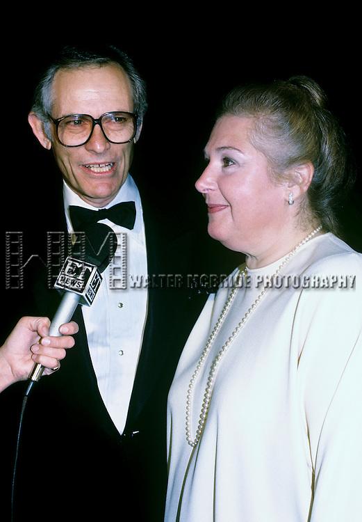 Marilyn Bergman and Alan Bergman photographed in New York City September, 1984.