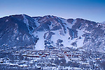 View of Aspen Mountain with downtown Aspen, Colorado. © Michael Brands. 970-379-1885.