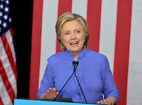 WILTON MANORS, FL - OCTOBER 30: Democratic presidential nominee former Secretary of State Hillary Clinton speaks during a LBGT community in Unity Rally and Concert campaign event at The Manor Complex on October 30, 2016 in Wilton Manors, Florida. With less than nine day to go until election day, Hillary Clinton continues to campaign in Florida and other battleground states. Credit: MPI10 / MediaPunch