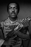 Staff Sgt. Jabar Ta'aban Abdel Sahed, 38, Basra, Old Iraqi Army, 4th Co., 2nd Battalion, 7th Division of the Iraqi Army in Haditha, Iraq on Sun. Nov. 27, 2005.