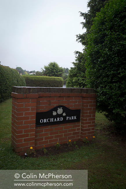 Orchard Park, Elton, near Chester, home to the Burgess twins who died earlier this year.  Muriel and Bernard Burgess were found on New years day at the bottom of cliffs in Dover.  After much investigation, its not clear if their death was down to suicide or an accident.