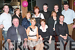 KEY TO THE DOOR: Mary Ryall, Abbeydorney celebrated her 21st birthday with family and friends in the Blasket Bar on Friday night seated l-r: Tim, Mary and Helen Ryall with Barry Grady. Back l-r: Damien Ryall, Lauraine O'Connor, Paula Mulvihill, Kathleen Crowley, Sean O'Connor, Sheila Hannon, Conor Crowley and John O'Connor.   Copyright Kerry's Eye 2008