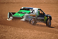 Apr 15, 2011; Surprise, AZ USA; LOORRS driver Casey Currie (2) during round 3 and 4 at Speedworld Off Road Park. Mandatory Credit: Mark J. Rebilas-.