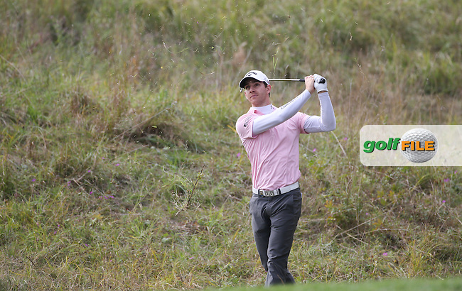 Tano Goya (ARG) in the rough down the 16th during the First Round of the Porsche European Open 2015 played at Golf Resort Bad Griesbach, Bad Griesbach, Germany.  24/09/2015. Picture: Golffile | David Lloyd<br /> <br /> All photos usage must carry mandatory copyright credit (&copy; Golffile | David Lloyd)