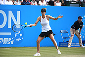 June 16th 2017, Nottingham, England;WTA Aegon Nottingham Open Tennis Tournament day 5;  Tsvetana Pironkova of Bulgaria levels the match at one set all  in the quarter final against Lucie Safarova of Czech Republic