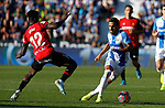 CD Leganes's Jose Luis Recio and Iddrisu Baba, player of Mallorca from Ghana during La Liga match. Oct 26, 2019. (ALTERPHOTOS/Manu R.B.)