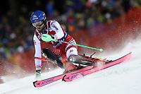 January 8th 2020, Madonna di Campiglio, Italy;  FIS Alpine Ski World Cup Men's Night Slalom in Madonna di Campiglio, Italy on January 8, 2020, Marco Schwarz (AUT) - Editorial Use