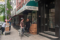 New York, NY 11 May 2013 Customers flock to Joe's Bakery on the last day of retail business. The family owned Soho shop, which specialized in smoked mozzarellacheese  and other Italian items, announced they would discontinue their retail business.