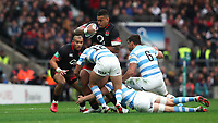 England's Nathan Hughes in action during todays game <br /> <br /> Photographer Rachel Holborn/CameraSport<br /> <br /> International Rugby Union Friendly - Old Mutual Wealth Series Autumn Internationals 2017 - England v Argentina - Saturday 11th November 2017 - Twickenham Stadium - London<br /> <br /> World Copyright &copy; 2017 CameraSport. All rights reserved. 43 Linden Ave. Countesthorpe. Leicester. England. LE8 5PG - Tel: +44 (0) 116 277 4147 - admin@camerasport.com - www.camerasport.com