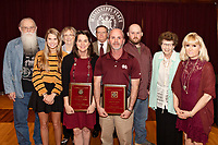 Wesley A. Ammon Outstanding Academic Advisory Award recipients Katy Richey and Dr. Brian Smith with Ammon family members.<br />  (photo by Beth Wynn / &copy; Mississippi State University)