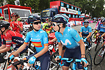 Spanish Champion Lourdes Oyarbide Movistar Team Women lines up for the start of Stage 2 of the Ceratizit Madrid Challenge by La Vuelta 2019 running 98.6km around Madrid, Spain. 15th September 2019.<br /> Picture: Luis Angel Gomez/Photogomezsport | Cyclefile<br /> <br /> All photos usage must carry mandatory copyright credit (© Cyclefile | Luis Angel Gomez/Photogomezsport)
