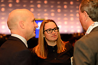 Philadelphia, PA - Thursday January 18, 2018: Laura Harvey during the 2018 NWSL College Draft at the Pennsylvania Convention Center.