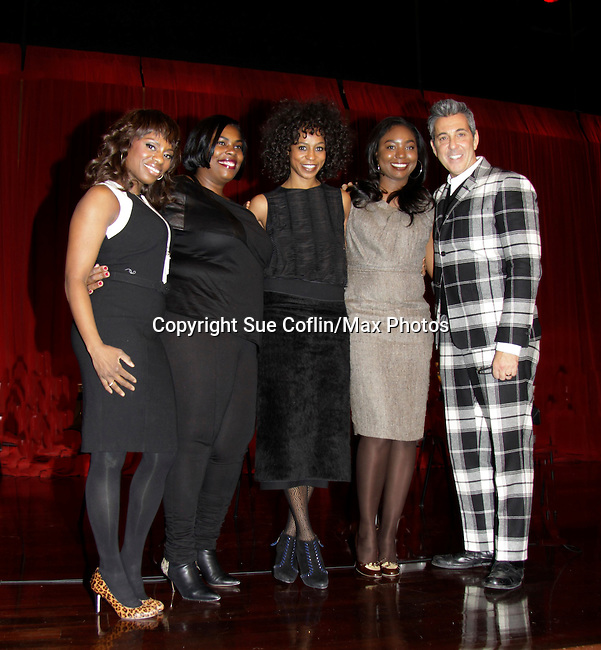 Carmencita Whonder -  Stacie Henderson - Marielle Bobo - George Brusha on a panel at Color of Beauty which recognizes stylish people of color with a one-day event featuring topical panel discussions followed later tonght with a red carpet awards ceremony. The event was on February 4, 2014 at New York University, New York City, NY. (Photo by Sue Coflin/Max Photos)