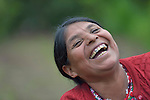 Teresa Diaz laughs during a workshop at an eco-agricultural training center in Comitancillo, Guatemala. The center is sponsored by the Maya Mam Association for Investigation and Development (AMMID).