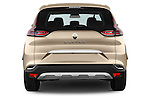 Straight rear view of2015 Renault Espace Intens 5 Door Minivan Rear View  stock images