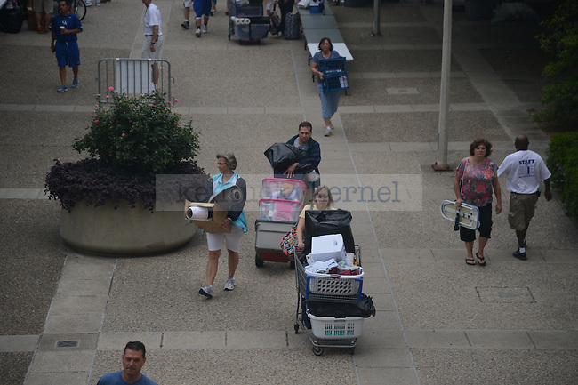 Parents help during freshman move in day on South Campus on August 17th, 2012. Photo by Mike Weaver | Staff