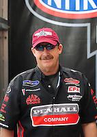 Nov. 2, 2008; Las Vegas, NV, USA: NHRA pro stock driver Mike Edwards during the Las Vegas Nationals at The Strip in Las Vegas. Mandatory Credit: Mark J. Rebilas-