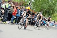 20180501 - DOORNIK , BELGIUM : Triathlete Katrien Verstuyft Team ATRIAC pictured during The Belgian Championship Team Triathlon Man and Women , a Team Triathlon in Doornik , Tuesday 1 st May 2018 , PHOTO SPORTPIX.BE | STIJN AUDOOREN