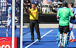 Umpire during the Pro League Hockey match between the Blacksticks men and the Argentina, Nga Punawai, Christchurch, New Zealand, Sunday 1 March 2020. Photo: Simon Watts/www.bwmedia.co.nz
