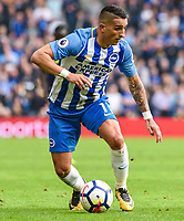 Anthony Knockaert of Brighton & Hove Albion (11) goalscorer during the Premier League match between Brighton and Hove Albion and Everton at the American Express Community Stadium, Brighton and Hove, England on 15 October 2017. Photo by Edward Thomas / PRiME Media Images.