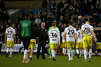 Hull City Manager, Nigel Adkins, stands on the pitch at the end of the match as his dejected players head to the dressing room after conceding two late goals during Millwall vs Hull City, Emirates FA Cup Football at The Den on 6th January 2019
