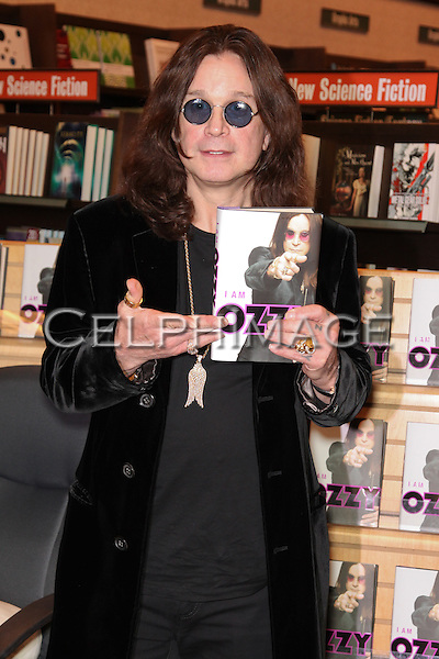 "OZZY OSBOURNE. The singer signs copies of his new book, ""I Am Ozzy,"" at Barnes & Noble. Huntington Beach, CA, USA. February 3, 2010."