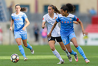 Bridgeview, IL - Sunday June 25, 2017: Sarah Killion, Christen Press during a regular season National Women's Soccer League (NWSL) match between the Chicago Red Stars and Sky Blue FC at Toyota Park. The Red Stars won 2-1.