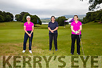 Elaine Daly, Cara and Angela Brosnan taking part in the Kenmare Golf Club 117 Hole marathon.