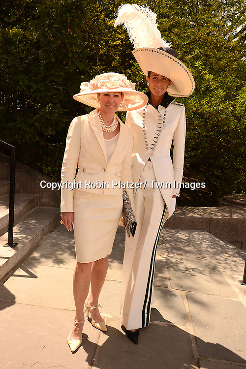 Muffy Potter Aston and Somers Farkas attend the 32nd Annual Frederick Law Olmsted Awards Hat Luncheon given by The Central Park Conservancy on May 7,2014 in Central Park in New York City, NY USA.